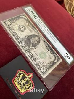 1000 Dollar Bill One Thousand Federal Reserve Note Sf Pmg 20