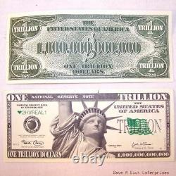1000 TRILLION DOLLAR NOVELTY BILLS wholesale lot set (1,000 / one thousand)