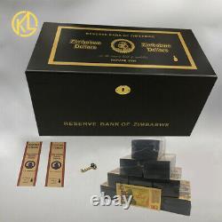 1000pcs One Centillion Dollars Gold Zimbabwe Banknote with Black wooden box