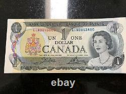 100 1973 Sequenced Canadian One Dollar Bills