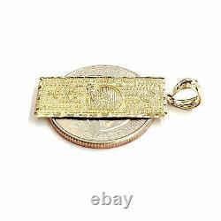 14k yellow gold one million dollar bill money lucky pendant charm jewelry 2.3g