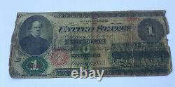 1862 $1 One Dollar Legal Tender United States Note (B)