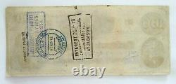 1862 Confederate States $100 One Hundred Dollar Bill Currency Richmond VA
