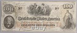 1862 T-41 $100 One Hundred Dollar Confederate Currency CIVIL WAR Bill CSA Note