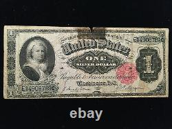 1886 One Dollar $1 Martha Silver Certificate Currency Note Bill