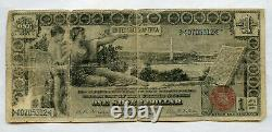 1896 $1 One Dollar Large Size Educational Silver Certificate Bill