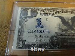 1899 US Black Eagle Silver Certificate One Dollar Note $1 Horse Blanket