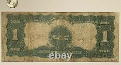 1899 Us $1 One Dollar Silver Certificate Bill Black Eagle Note Wow Nice