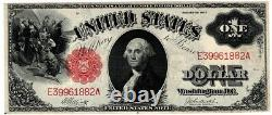 1917 $1 Large Size U. S. Legal Tender Note One Dollar Red Seal Bill AMAZING