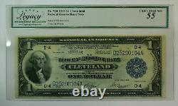 1918 $1 One Dollar Cleveland Federal Reserve Note FRN Fr. 720 Legacy 55