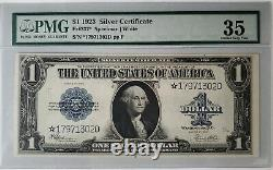 1923 One Dollar Silver Certificate PMG 35 Choice Very Fine Star Large Note