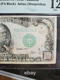 1934 $1000 Federal Reserve Note Atlanta One Thousand Dollar Bill PMG 12 FR2211
