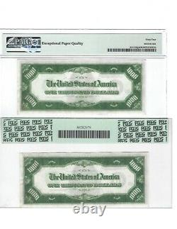 1934 $1000 St. Louis LGS UNCIRCULATED CONSECUTIVE PAIR One Thousand Dollar Bill