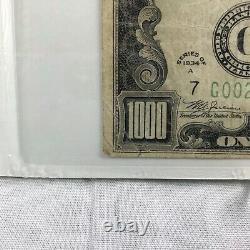 1934 A One Thousand Dollar Bill $1000 Chicago PMG 25 FR#2212-G