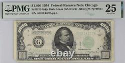 1934 Chicago $1000 One Thousand Dollar Bill Federal Reserve Note 00114372 PMG 25