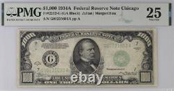 1934 Chicago $1000 One Thousand Dollar Bill Federal Reserve Note 500 PMG 25