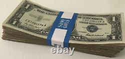 1935 One Dollar Bill Highly Circulated Silver Certificate Note Lot of 100