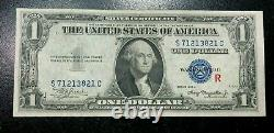 1935a Series One Dollar Silver Certificate Experimental R Note Crispy Xf