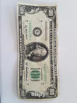 1950D $ 100 One Hundred Dollar Bill great condition
