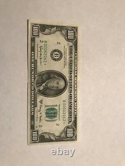 1963 A Series $100 Star Note One Hundred Dollar Bill Very Low Serial # Very Nice