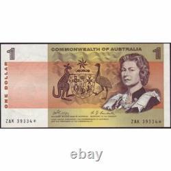 1969 Australia R. 73S One Dollar Star Note Phillips/Randall Australian Decimal B