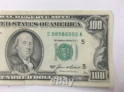 1985 ONE HUNDRED $100 DOLLARS Bill Federal Reserve Note Series 5 WASHINTON D. C