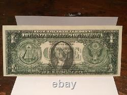 1988a One Dollar Bill Misaligned Front & Back, Double Printed On Back