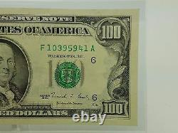 1990 One Hundred $100 Dollar Bill Federal Reserve Note Series Extra Strike