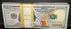 (1) 2017 A $100 Bill One Hundred Dollar Note Crisp Uncirculated From Bep Strap
