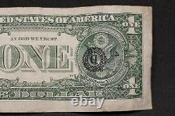 2017 $1 One Dollar Frn Federal Reserve Note Misprint On Back 6 Errors