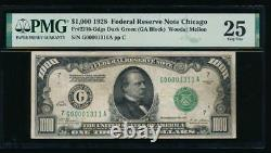 AC 1928 $1000 Chicago ONE THOUSAND DOLLAR BILL PMG 25