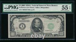 AC 1934A $1000 Boston ONE THOUSAND DOLLAR BILL PMG 55 EPQ