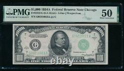 AC 1934A $1000 Chicago ONE THOUSAND DOLLAR BILL PMG 50 comment