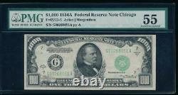 AC 1934A $1000 Chicago ONE THOUSAND DOLLAR BILL PMG 55