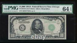 AC 1934A $1000 Chicago ONE THOUSAND DOLLAR BILL PMG 64 EPQ