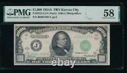 AC 1934A $1000 Kansas City ONE THOUSAND DOLLAR BILL PMG 58