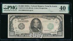 AC 1934A $1000 Saint Louis ONE THOUSAND DOLLAR BILL PMG 40 comment