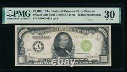 AC 1934 $1000 Boston LGS ONE THOUSAND DOLLAR BILL PMG 30 comment