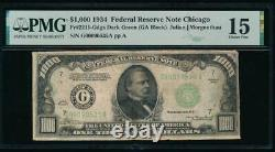 AC 1934 $1000 Chicago ONE THOUSAND DOLLAR BILL PMG 15