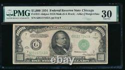 AC 1934 $1000 Chicago ONE THOUSAND DOLLAR BILL PMG 30 comment