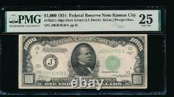 AC 1934 $1000 Kansas City ONE THOUSAND DOLLAR BILL PMG 25