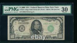 AC 1934 $1000 New York ONE THOUSAND DOLLAR BILL PMG 30 comment