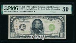 AC 1934 $1000 Richmond LGS ONE THOUSAND DOLLAR BILL PMG 30 comment