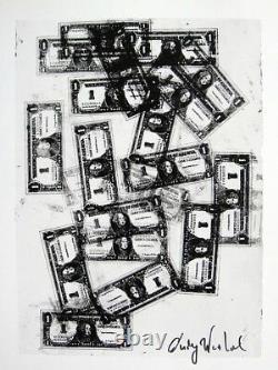 Andy Warhol Hand Signed Signature One Dollar Bills Print