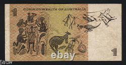 Australia R-72S. (1967) One Dollar. Coombs/Randall STAR Note. ZAG Prefix. AF