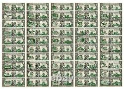 Complet Set of all 50 STATE $1 Bill Genuine Legal Tender US One-Dollar Banknotes