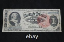 FR. 216 1886 $1 ONE DOLLAR MARTHA Washington SILVER CERTIFICATE CURRENCY NOTE