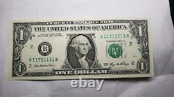 Fancy Serial Number $1 one dollar US Currency Paper Money bill ladder