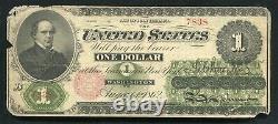Fr. 17 1862 $1 One Dollar Legal Tender United States Note (b)