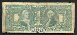 Fr. 225 1896 $1 One Dollar Educational Silver Certificate Currency Note (d)
